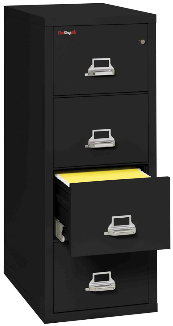 Fire King 4-2131-C - Vertical Fireproof File Cabinets - 4 Drawer 1 Hour Fire Rating