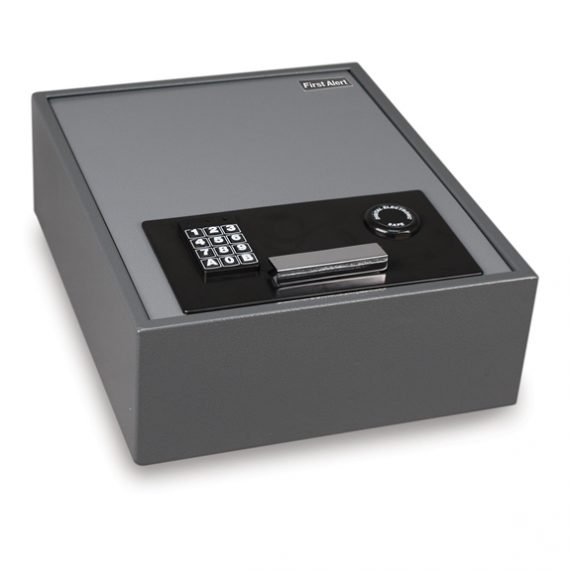 First Alert 2079F Safe Top-Opening Anti-Theft Drawer Safe - .67 Cubic Ft