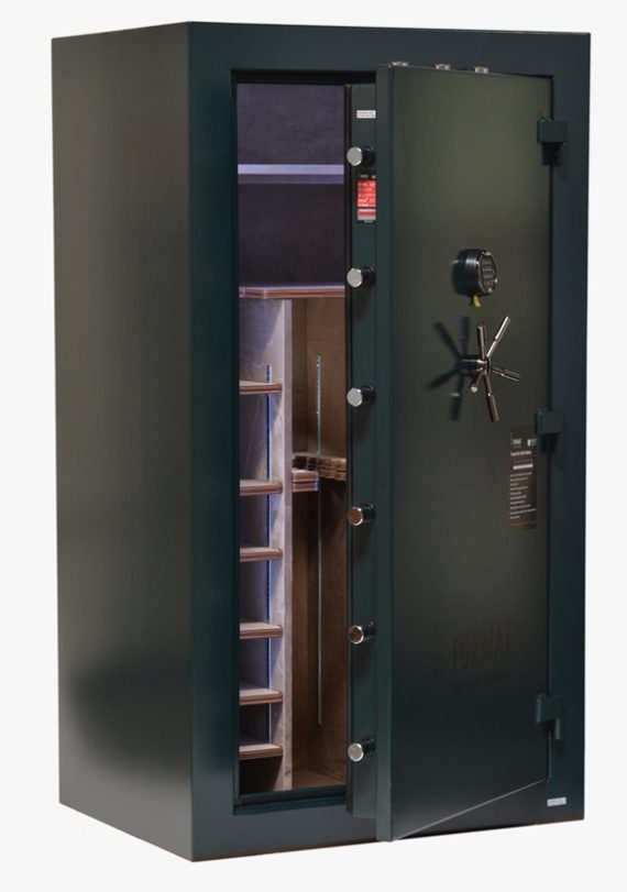 Format - DL50 - Deluxe Level - 57 Gun Capacity - 60 Min. / 1400° Fire Rating