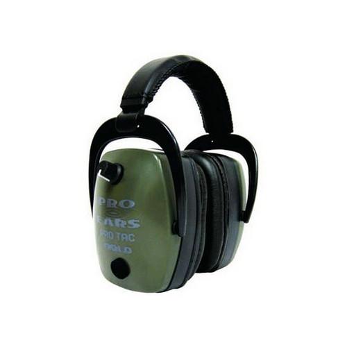Pro Ears Pro Tac Mag Gold NRR 33 - Pro Tac Mag Gold Green, Lithium 123 Batt
