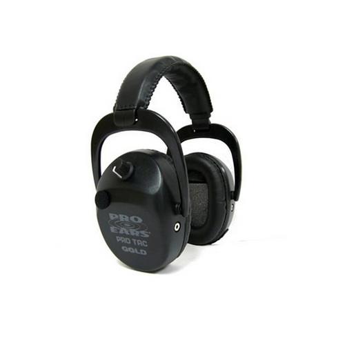 Pro Ears Pro Tac SC Gold - Pro Tac SC Gold Black, Lithium 123 Batt