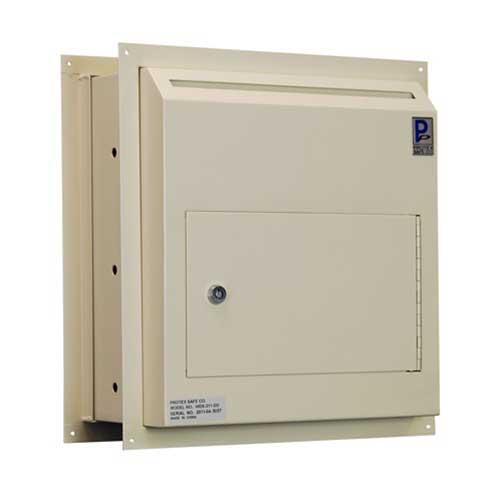 Protex WDS-311-DD Through-The-Wall Locking Drop Box w/ Dual Doors