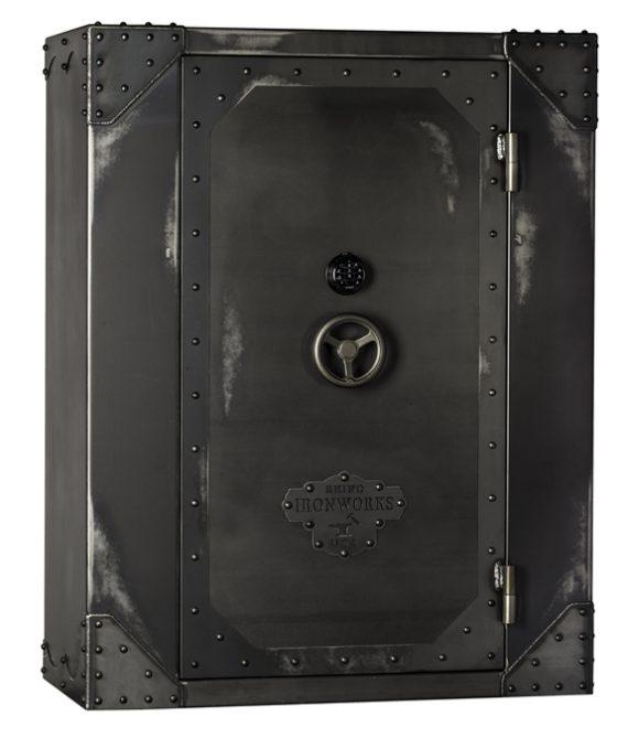 Rhino AIW Series Ironworks AIW7256X 130 Minute Fire Safe: 68 Long Guns 10 Pistol Pockets Gun Safe