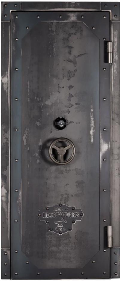 "Rhino Ironworks Vault Door Series - 80"" H x 30"", 35"", 40"", 45"" W"