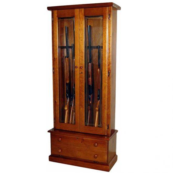 Scout 1119 Gun Cabinet - Solid Pine - 12-Gun