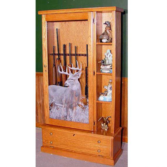 Scout 1358 Gun Cabinet - Solid Oak - 8-Gun