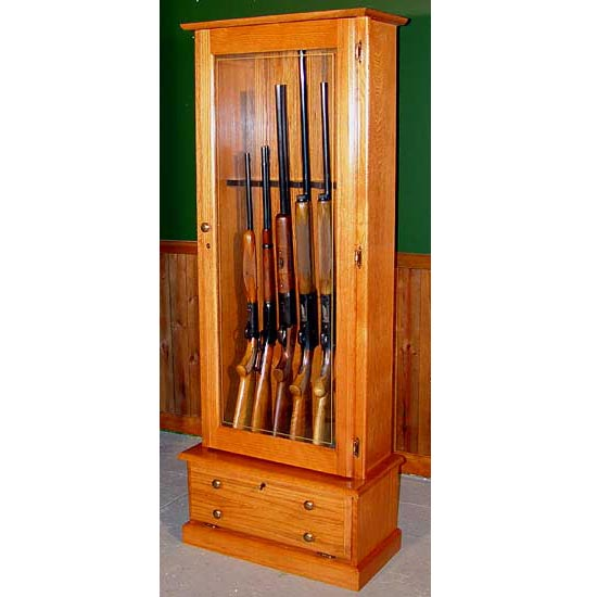 Scout 406 Gun Cabinet - Solid Oak -6-Gun