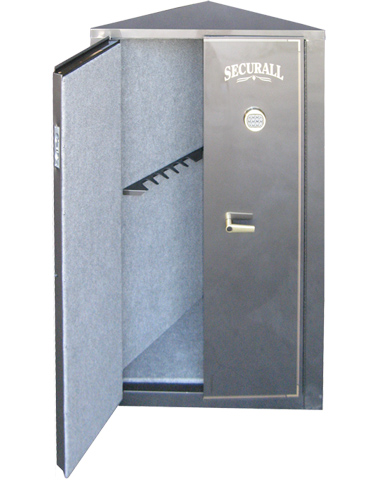 "Securall - C11 -11 Gun High Security Corner Cabinet 65""H x 34""W x 18""D"