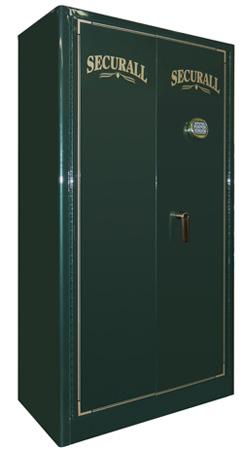 "Securall - GR24 - 24 Gun Capacity Radius w/ Digital Lock Double Door Cabinet 65""H x 34""W x 18""D"