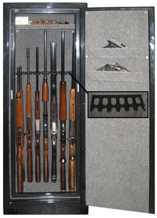 "Securall - SD14 - 14 Gun Capacity Radius w/ Digital Lock Single Door Cabinet 65""H x 23""W x 18""D"