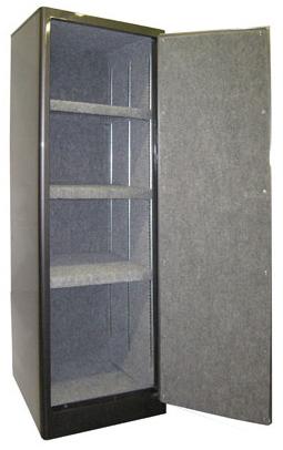 "Securall - SD3 - 3 Shelf Radius w/ Digital Lock Single Door Cabinet 65""H x 23""W x 18""D"