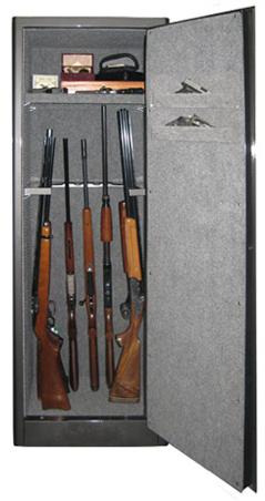 "Securall - SD9 - 9 Gun Capacity Radius w/ Digital Lock Single Door Cabinet 65""H x 23""W x 18""D"