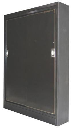 """Securall - SlimLine 14 Gun Storage Cabinet 65""""H x 48""""W x 10""""D"""