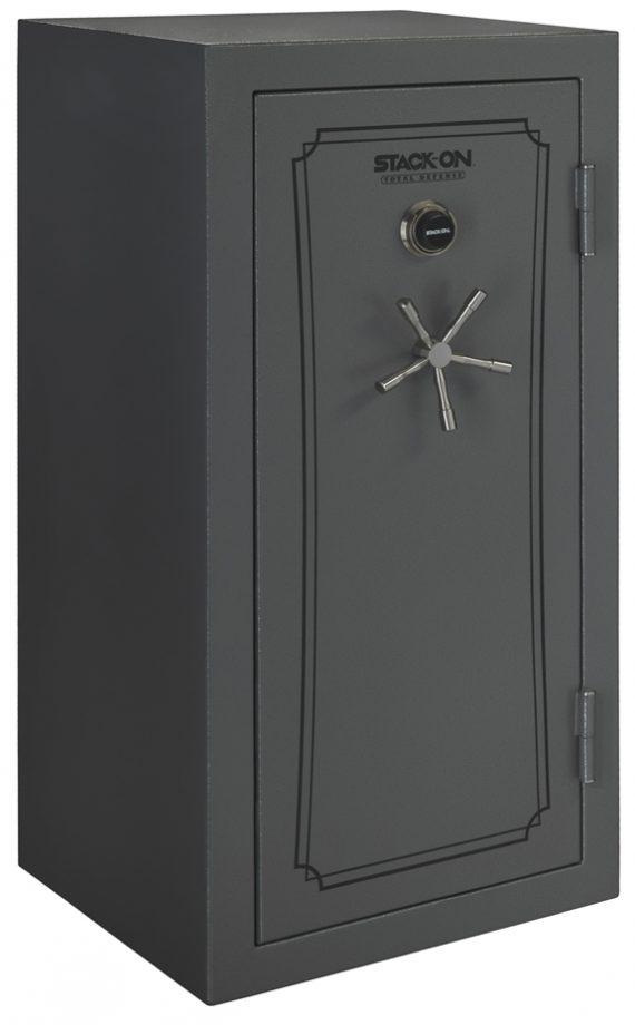 Stack-On Total Defense 36-40 Gun Safe w/Combination Lock Grey Pepple
