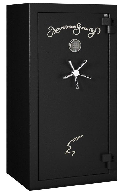 American Security - BF6030 - 11/11/22 Gun Capacity - 120 Min / 1200° - Quick Ship Matte Black Electronic Lock Safe